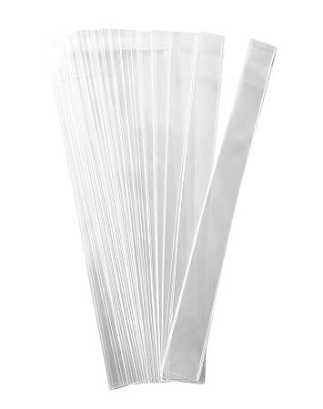 Amazon.com: 200 bolsas de celofán transparentes planas y ...