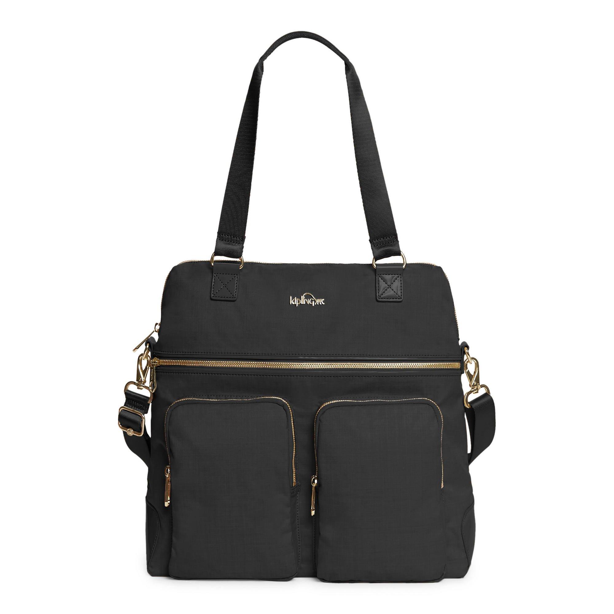 Kipling Camryn Laptop Handbag Black Crosshatch by Kipling (Image #1)