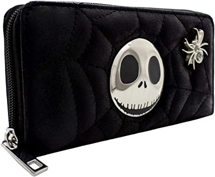 Nightmare Before Christmas Jack /& Sally Noir Portefeuille
