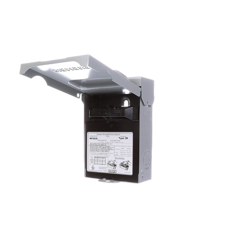 Siemens WF2030 30 Amp Fusible AC Disconnect