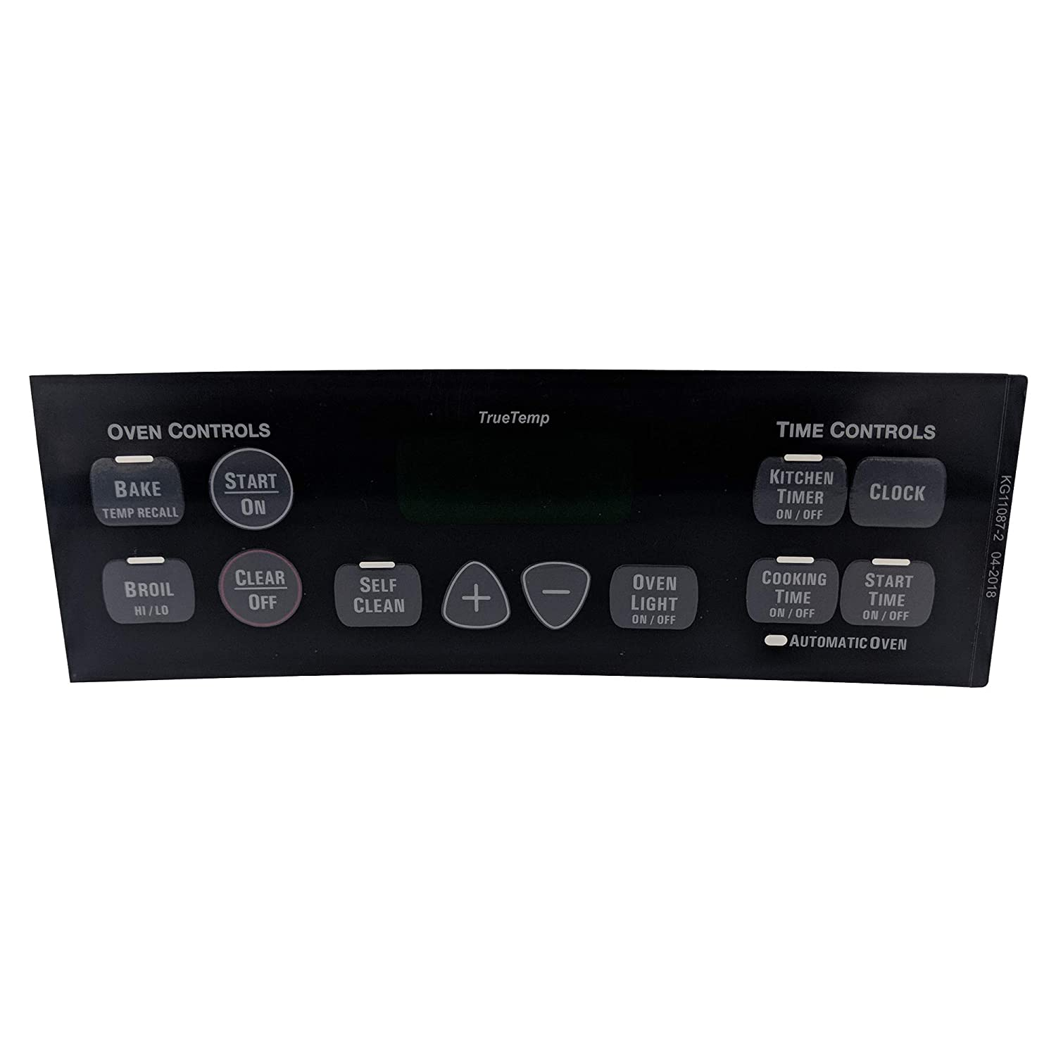 Supplying Demand WB27T10675 Black Graphic Overlay For Oven Control Compatible With GE