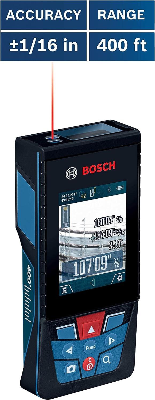 Bosch GLM400CL Blaze Outdoor - Medidor láser conectado por Bluetooth con cámara y batería de iones de litio