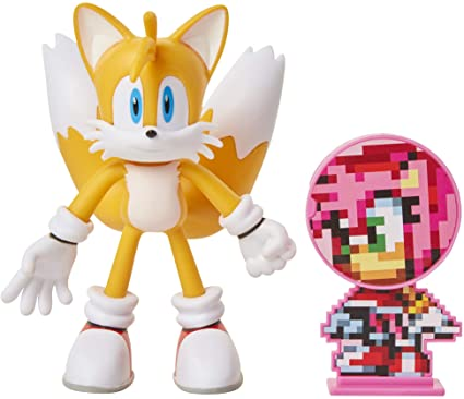 Amazon Com Sonic The Hedgehog 4 Tails Action Figure Toys Games
