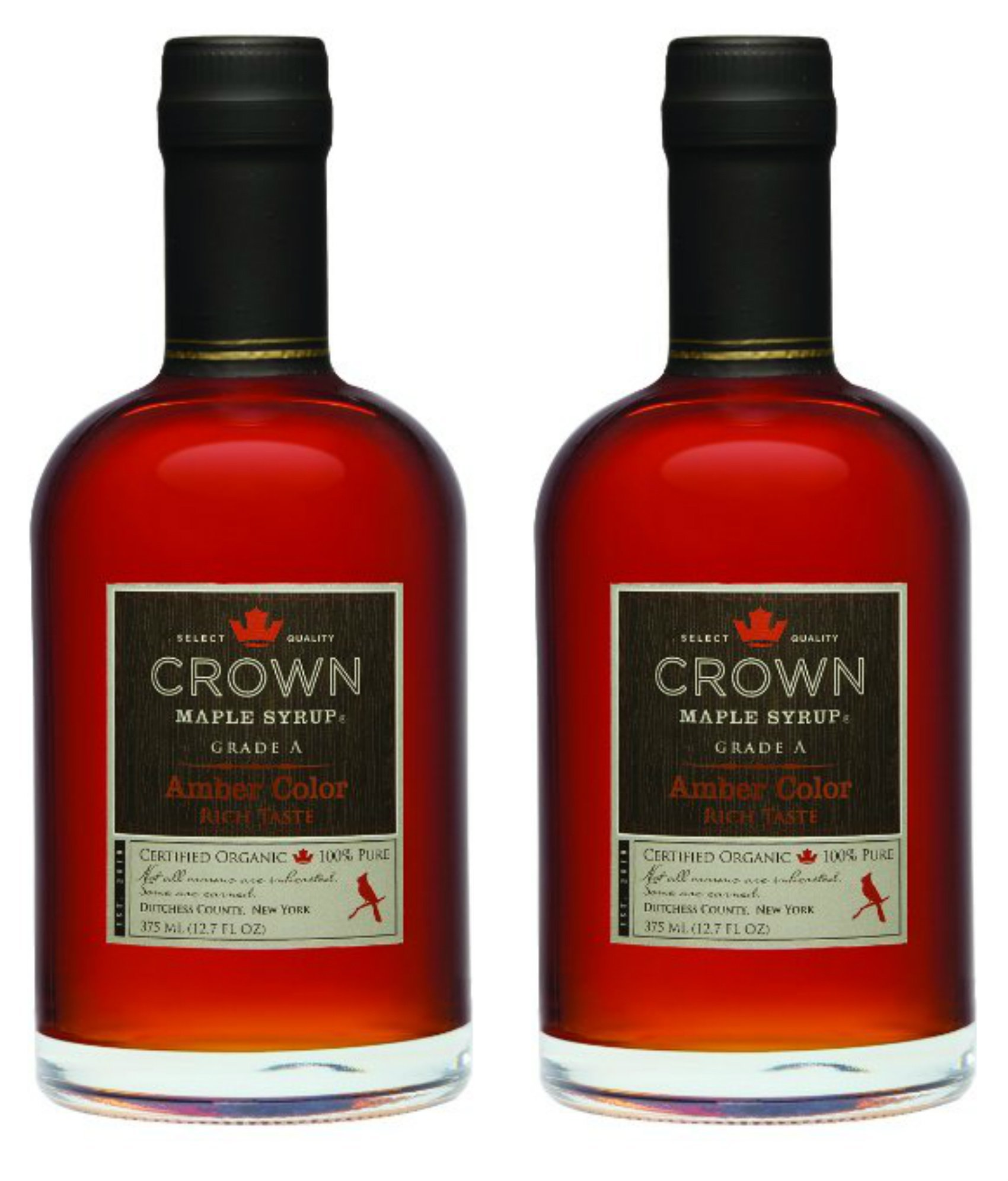 Crown Maple Syrup, Rich Amber, 12.7 Fluid Ounce, 2 pack by Crown Maple