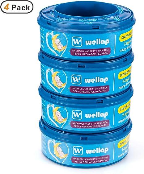 Recambios para el contenedor de pañales Sangenic Tommee Tippee & Sangenic Tec- recarga multicapa con tratamiento EVOH antibacteriano (4 recargas): Amazon.es: Bebé