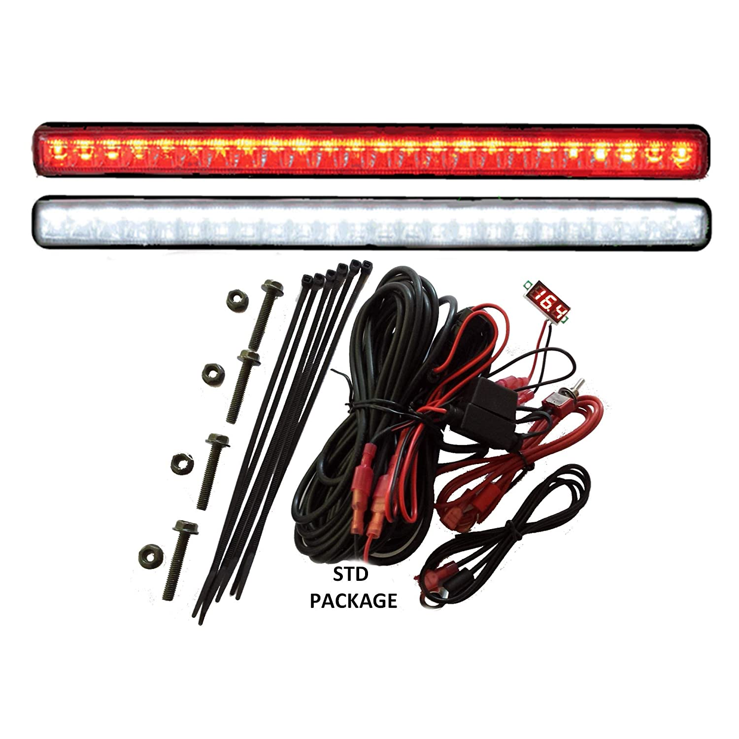 Tecscan Golf Cart Led Light Kit Liteseasy Standard W Yamaha F350 Command Link Wiring Diagram Built In Meter Accessories Sports Outdoors