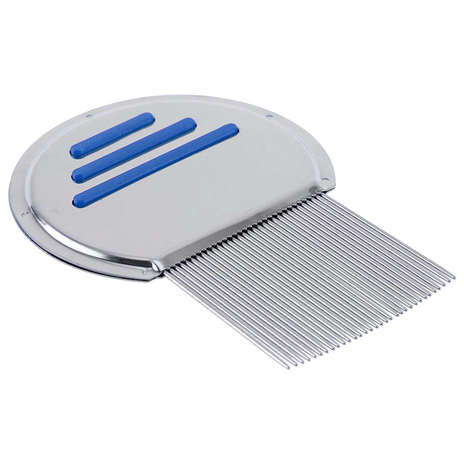 MultiWare Lice Nit Get Down To Nitty Gritty Stainless Steel Removal Comb Metal Head And Teeth Silver oem