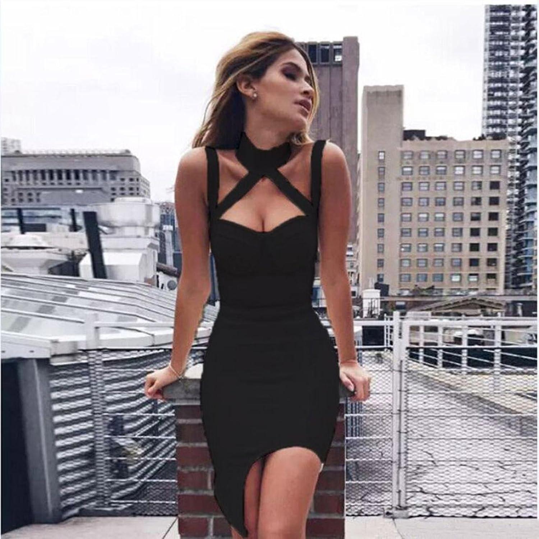 Btruely Damen Kleider Slim Sexy Partykleid Elegant Minikleid Frauen ...