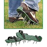 Hummelladen || Rasenbelüfter Sandalen mit 26 ca. 5 cm langen Bodennägeln, 13 x 30cm || Vertikutierer Rasen Nagelschuhe Rasenlüfter Stachelschuhe