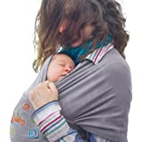 Newborn, Infant, Baby & Toddler Wrap Carrier Sling & Cover With Front Pocket By iCarryBaby