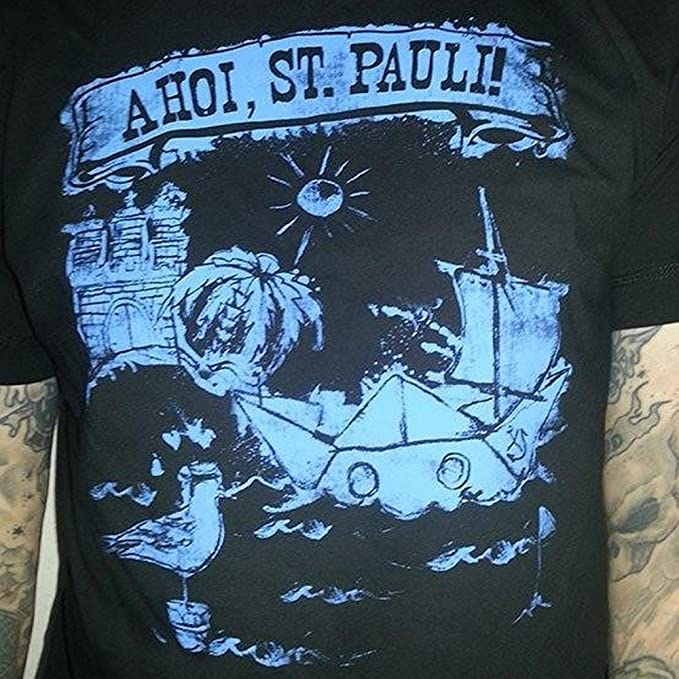 Kiezkicker Camiseta Hombre Ahoi St Pauli de EN Negro GonIf4eBfb