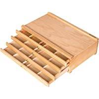 MEEDEN 4-Drawer Artist Supply Storage Box - Portable Foldable Multi-Function Beech Wood Artist Tool & Brush Storage Box…