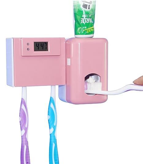 Contador de tiempo electrónico automático de polvo dispensador de pasta de dientes Prueba con Wall cepillo