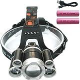 LEDヘッドライト 12000ルーメン USB充電式 防水 4点灯モード 作業灯 防災 登山 釣り ランニング 夜釣り