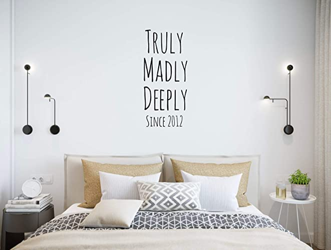Amazon Com Love Wall Decal Quote Truly Madly Deeply