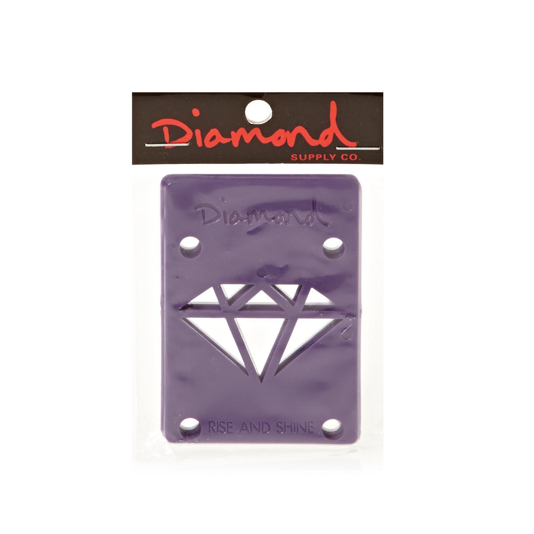 Diamond Supply Co Rise And Shine Skateboard Risers One Size Purple