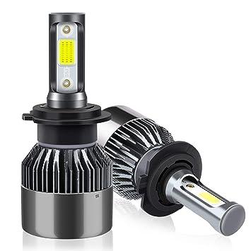 H7 LED Faros Delanteros Bombillas de Coches 8000LM 6000K: Amazon.es: Coche y moto
