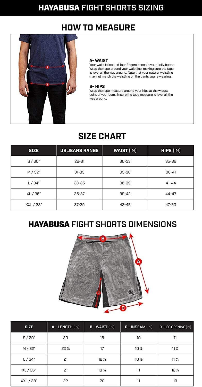 Kickboxing Boxing Jiu Jitsu Hayabusa Chikara 4 Martial Arts Fight Shorts for MMA BJJ and Grappling