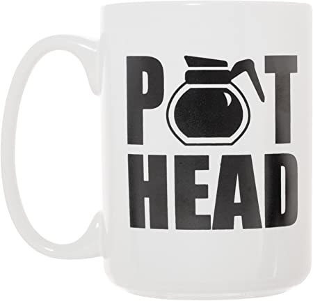 Amazon.com: Pot Head Cafetera Taza 15 oz Deluxe Doble Cara ...