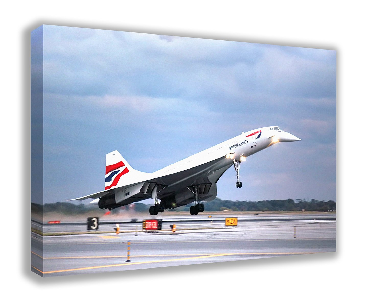 British Airways BA Concorde Supersonic Airline Wall Canvas (30
