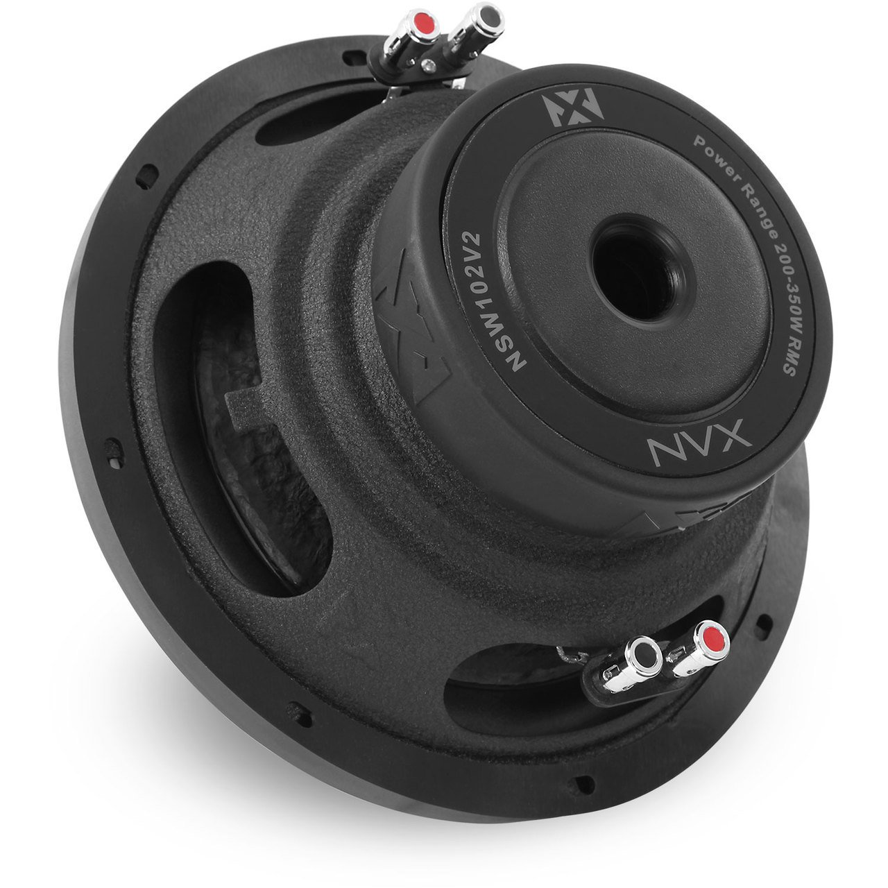 NVX 10 inch Professional Grade 350 watt RMS 700 watt Peak Dual 4-Ohm N-Series V2 Car Subwoofer NSW104V2