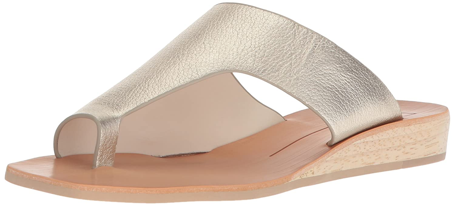 Dolce Vita Women's Hazle Slide Sandal B07B2CXF62 7 B(M) US|Lt Gold Leather