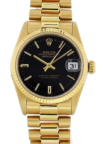 Rolex Datejust Automático De Viento Auto Reloj 6827 para Mujeres