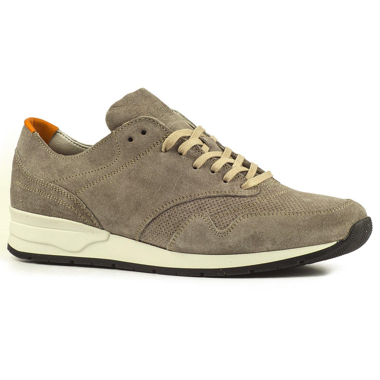 Buffalo Herren ES 30903 Schuhe Sneakers Turnschuhe Leder Suede Perforiert  43 EU|Grau 01