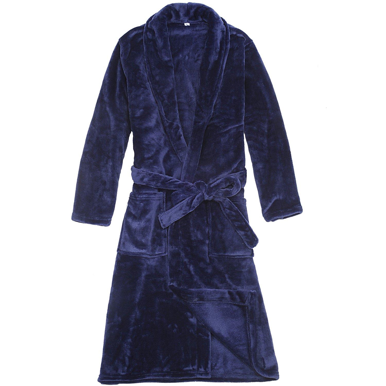 WORW Big Boys' Solid Robes Bathrobe Robes