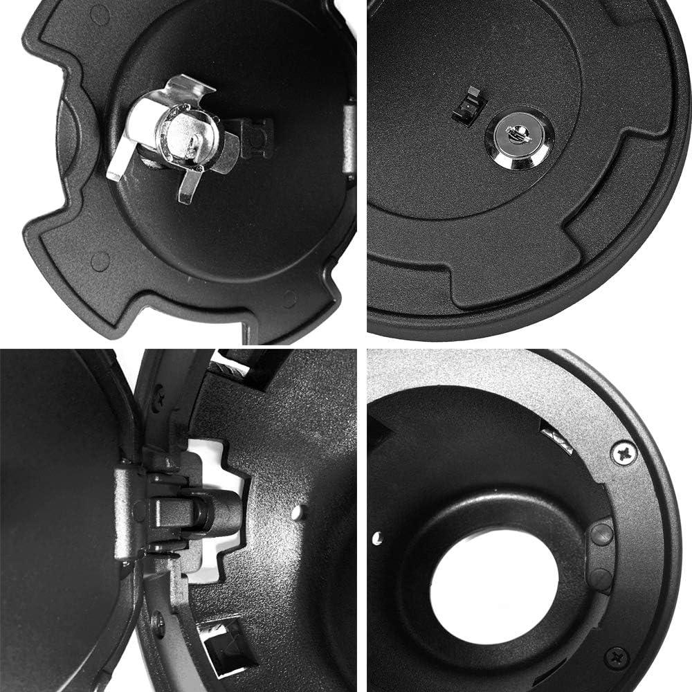 Semtion Fuel Tank Door for Jeep Wrangler JK JKU Rubicon Sahara Unlimited Willy Sport 2007-2018 Upgraded Version Locking Gas Cap