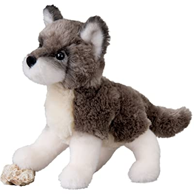 Cuddle Toys 4036 20 cm Long Ashes Wolf Plush Toy: Toys & Games