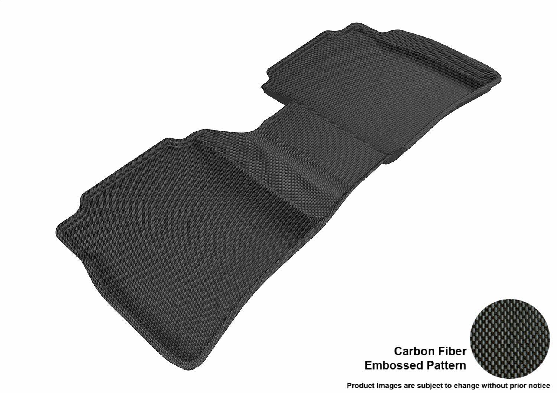 Black 3D MAXpider Front Row Custom Fit Floor Mat for Select Nissan Sentra Models L1NS07611509 Kagu Rubber