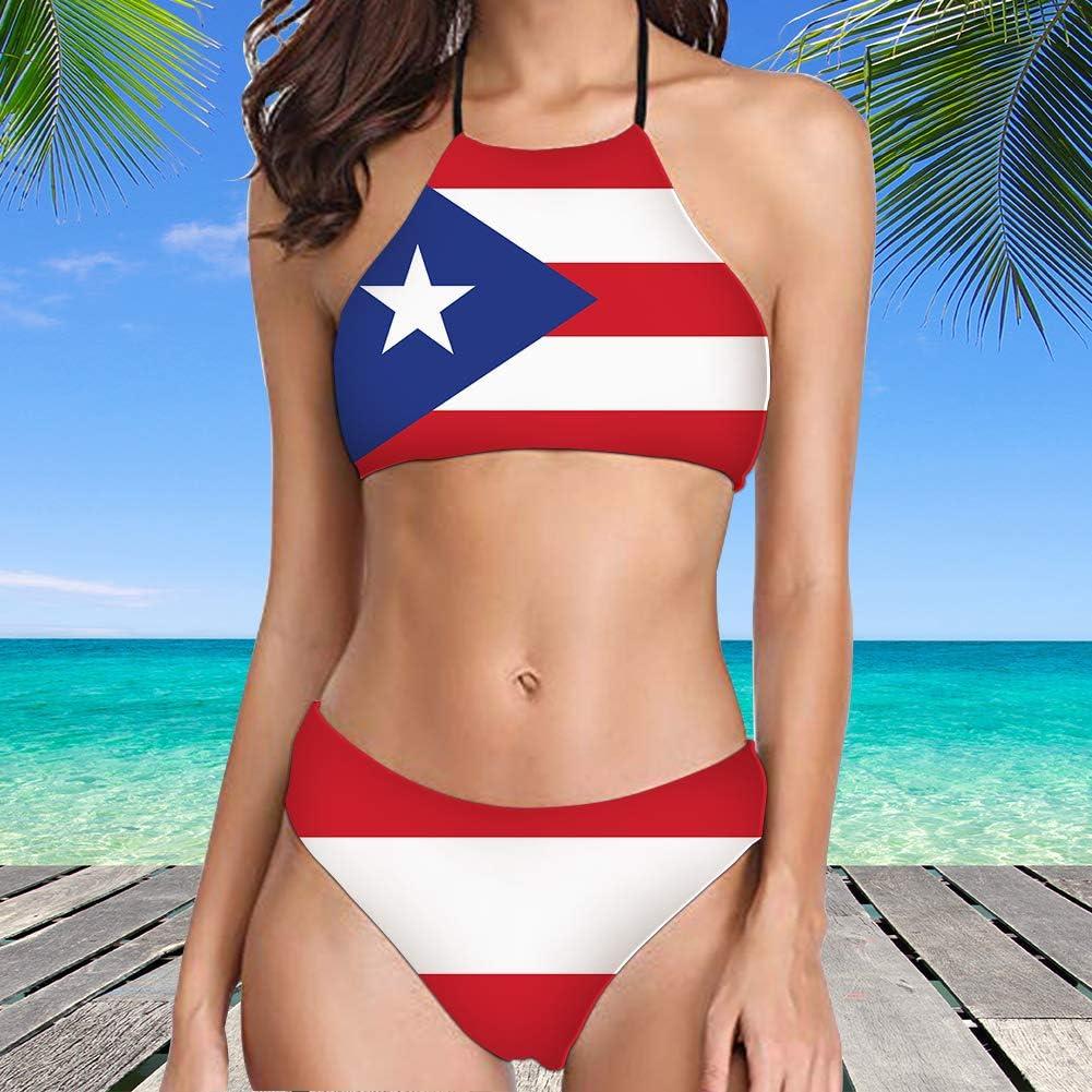 Foruidea - Conjunto de Bikini Sexy con Bandera Cubana para Mujer ...