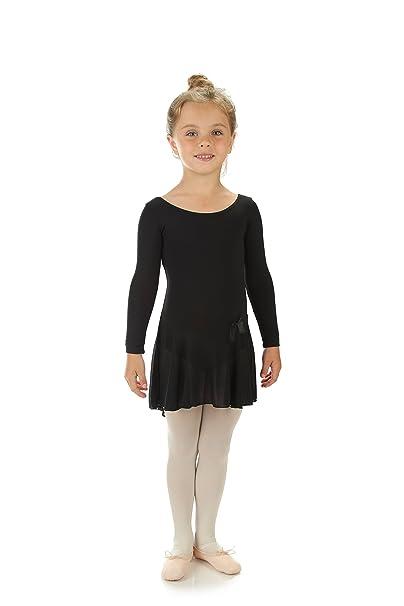 46f6195fe Amazon.com  Elowel Kids Girls Ruffle Long Sleeve Skirted Leotard ...