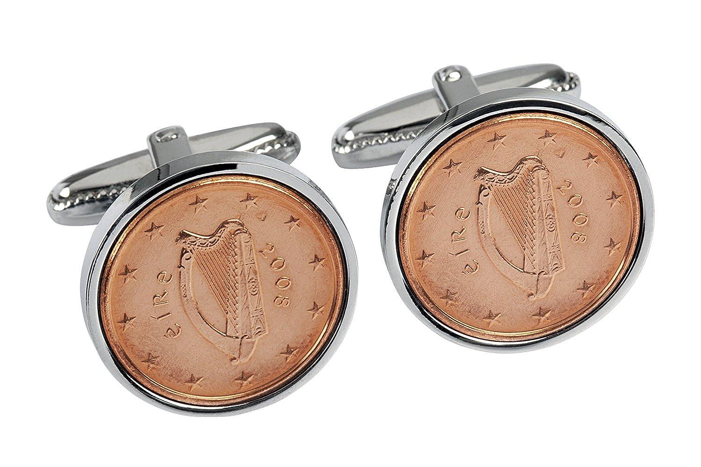 10th Wedding Anniversary for Men- 2008 Copper Coins Cufflinks