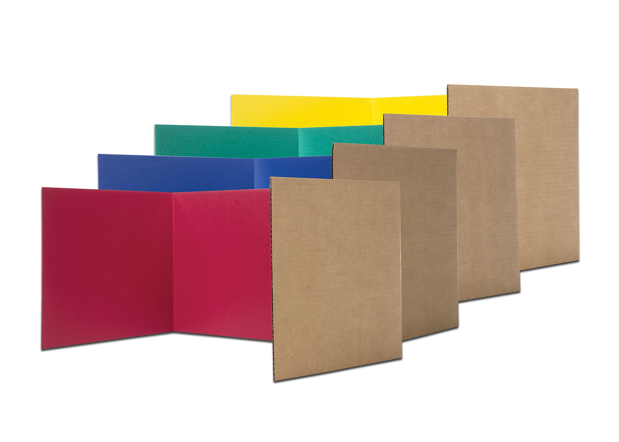 Flipside Products 60045 12'' x 48'' Study Carrel, Color Assortment (Pack of 24)