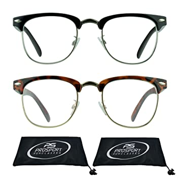 27f8b26d69f Multifocal Progressive Computer Reading Glasses No Line with Horn Rimmed  Plastic and Metal Half Frame for
