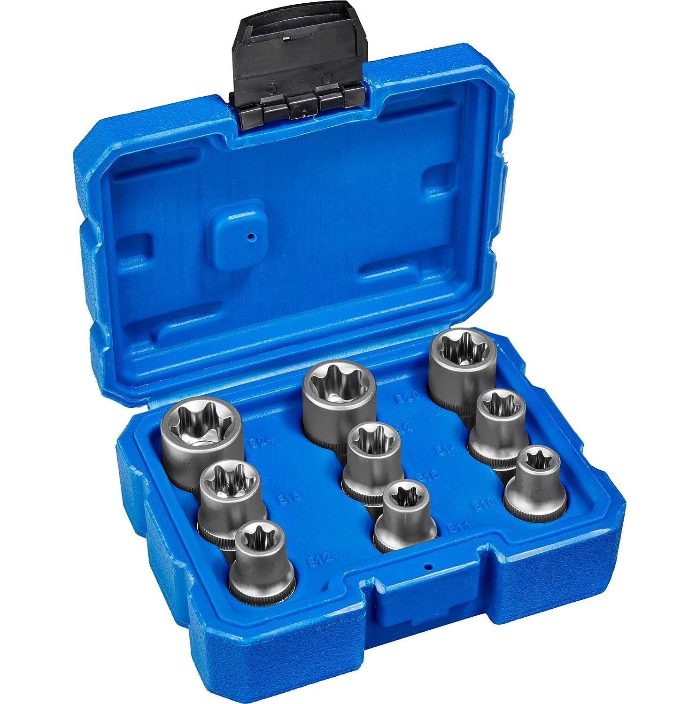 Koffer TecTake Steckschl/üsselsatz Torx Steckschl/üssel mit Kodierung und Kugelfangrille  inkl verschiedene Modelle Typ 5   Nr. 402691