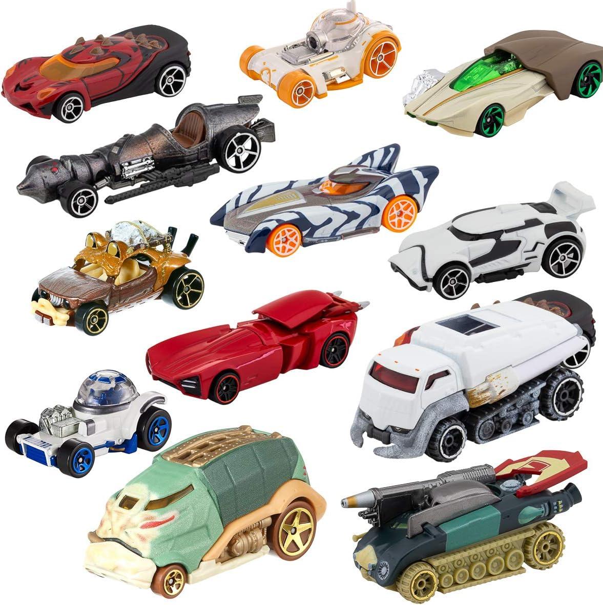 Amazon Com Hot Wheels Set Of 12 Die Cast Star Wars Toys