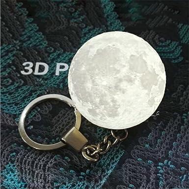 Mini Moonlight LED llavero 3D Print, llavero 3D Moonlight colgante ...