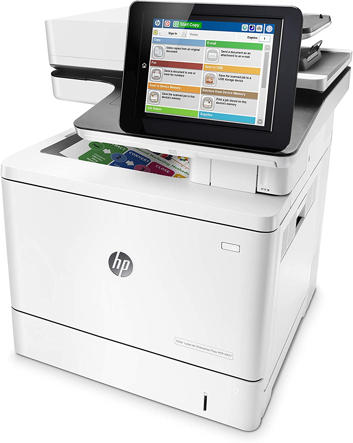 HP Color LaserJet Enterprise Flow Multifunction Printer M577c (B5L54A)