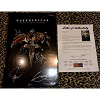 $195 » Queensryche Autographed Signed Memorabilia Dedicated To Chaos Poster Geoff Tate PSA/DNA Coa