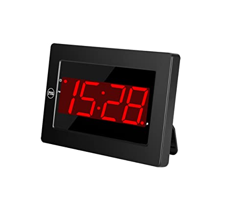 Timegyro LED Reloj de Pared Digital con batería de Escritorio Reloj Despertador con repetición para el