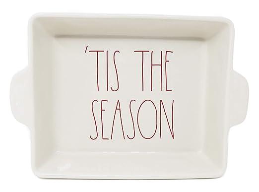 Rae Dunn By Magenta TIS THE SEASON - Bandeja de horno (cerámica ...