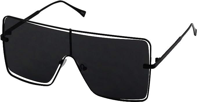 Vintage Retro Aviator Sunglasses Men Women Oversize Flat Top Square UV Protect A