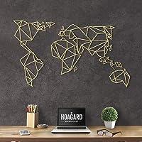 Hoagard World - Mapa de Metal para decoración