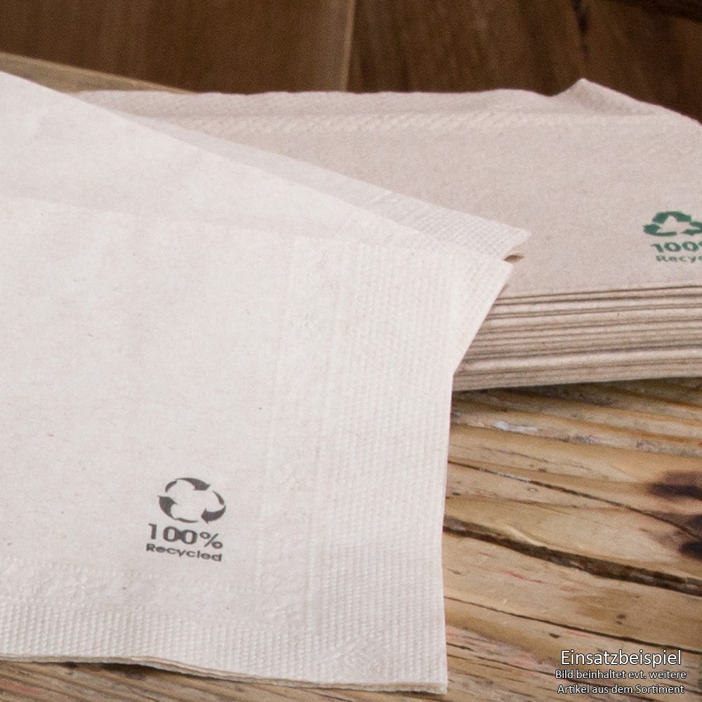 BIOZOYG Servilletas orgánicas ecológicas de Papel Reciclado I Servilletas de Papel 33 x 33 cm I 100 Piezas de servilletas sin blanquear, biodegradables, ...