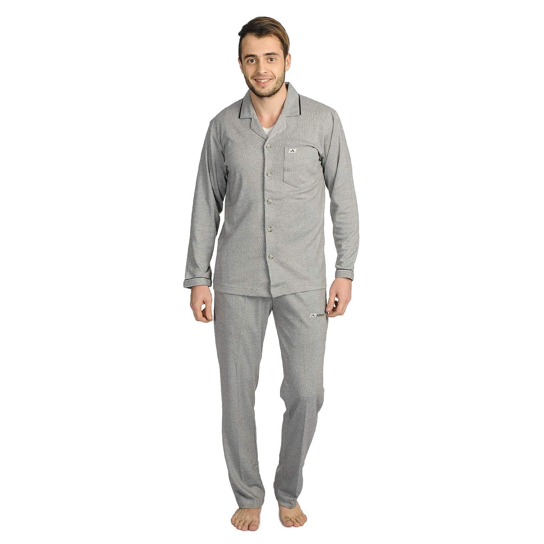 ATHLET Men's Cotton Night Suit with Pajama Set