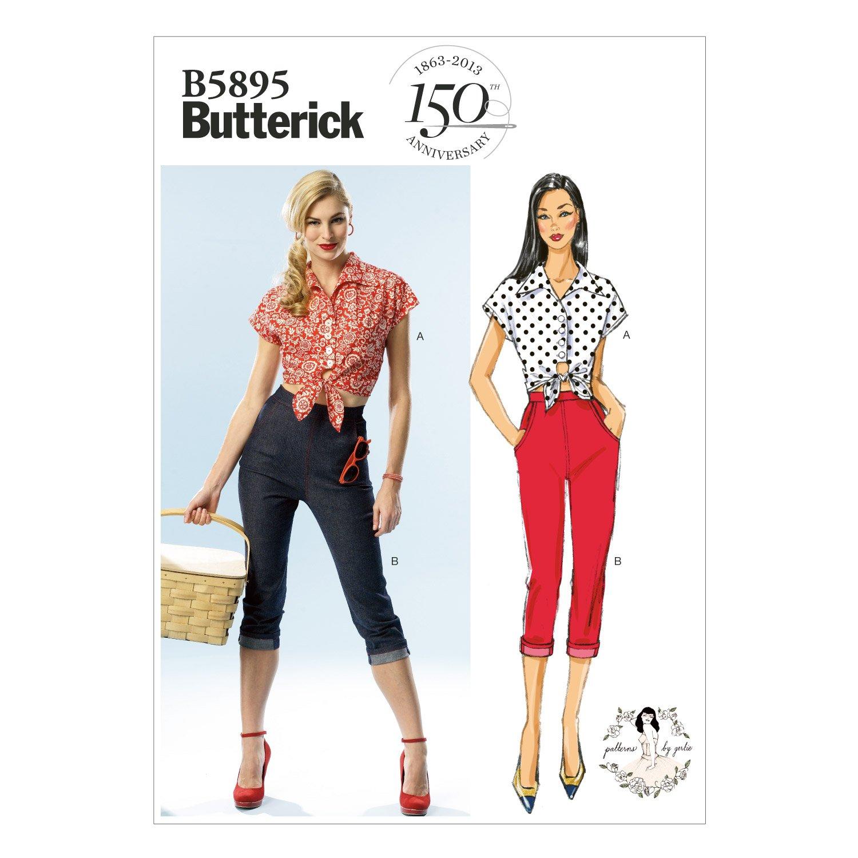 Butterick B5895 - Patrones de costura para confeccionar pantalón y ...