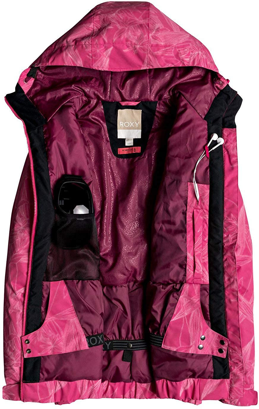 Roxy Snow Juniors Valley Hoodie Snow Jacket Roxy Juniors Snow ERJTJ03021